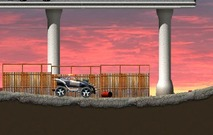 Massacre-game-with-a-police-car-futuristic